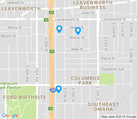 map of Columbus Park apartments for rent