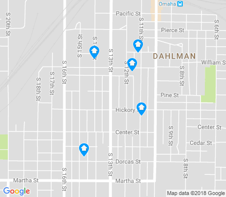 map of Dahlman apartments for rent