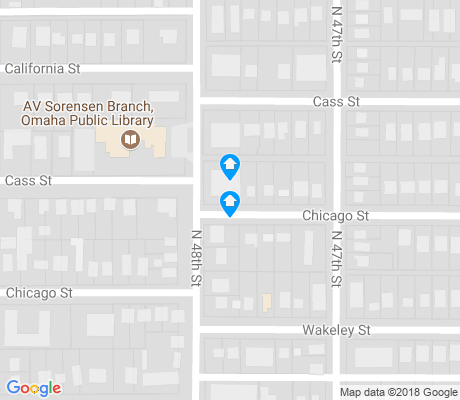 map of Dodge Street Corridor apartments for rent