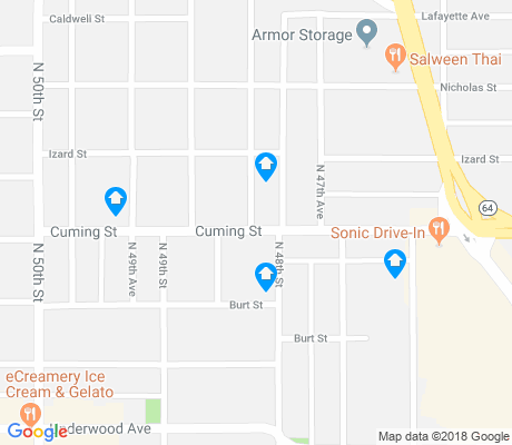 map of Dundee apartments for rent