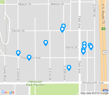 map of Ford Birthsite apartments for rent