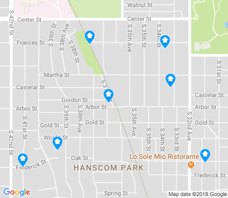 map of Hanscom Park apartments for rent