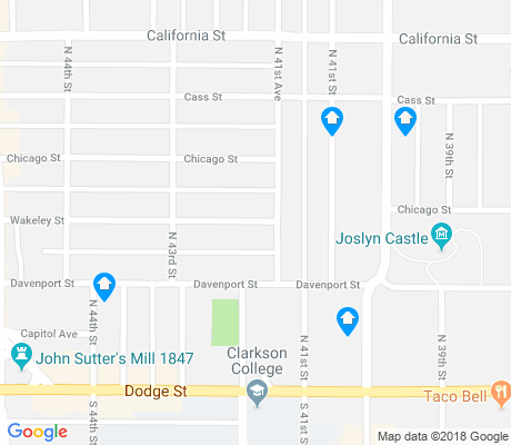 map of Joslyn Castle apartments for rent