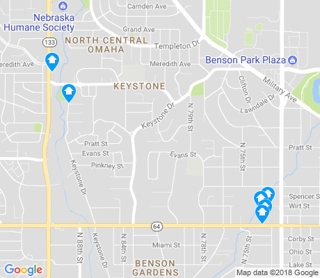map of Keystone apartments for rent