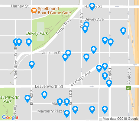 map of Leavenworth apartments for rent