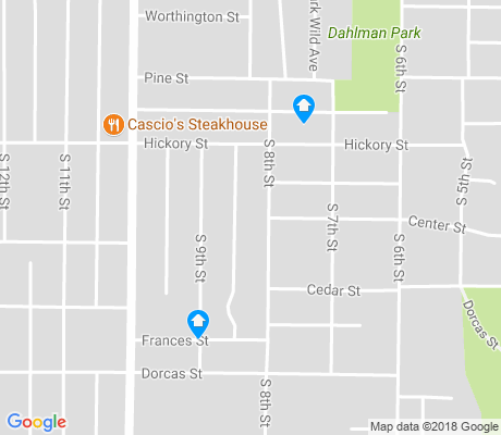 map of Little Italy apartments for rent