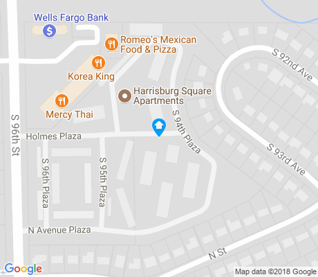 map of Mockingbird Hills apartments for rent