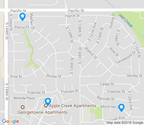 map of Montclair Trendwood Parkside and Georgetown apartments for rent