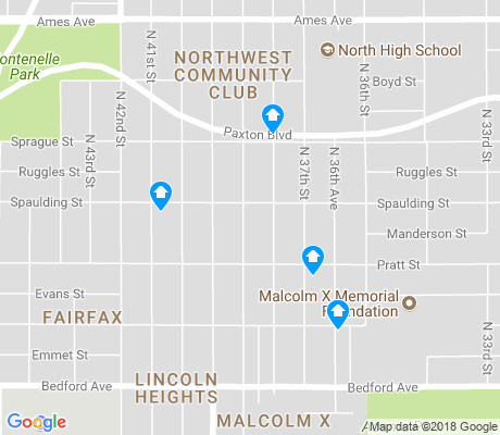 map of North Omaha apartments for rent
