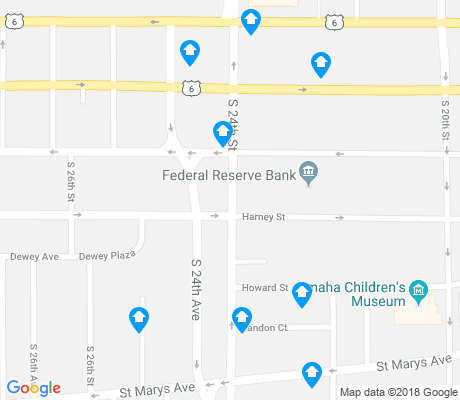 map of Park East apartments for rent