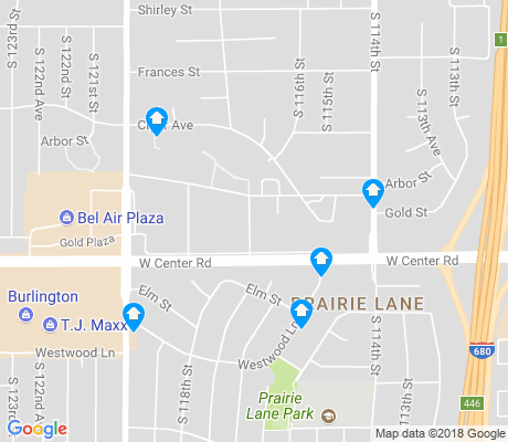 map of Prairie Lane apartments for rent
