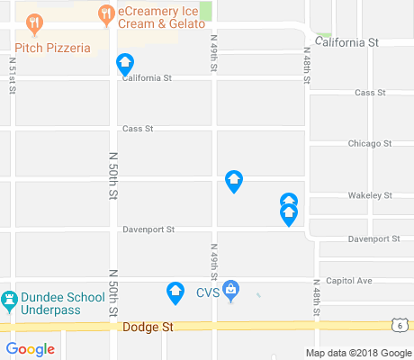 map of Underwood Avenue apartments for rent