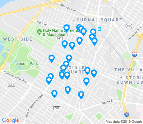 map of McGinley Square apartments for rent