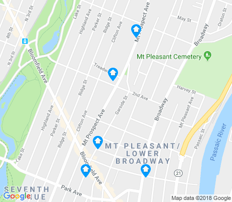 map of Mount Pleasant - Lower Broadway apartments for rent