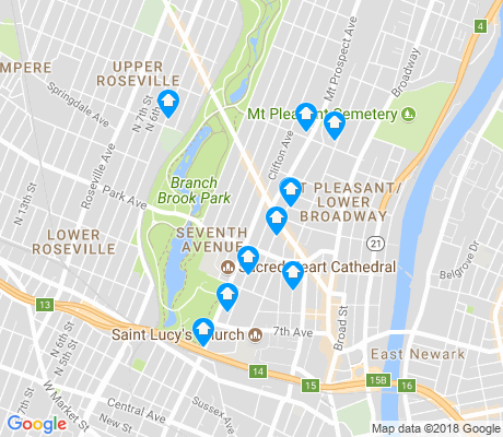 map of Seventh Avenue apartments for rent
