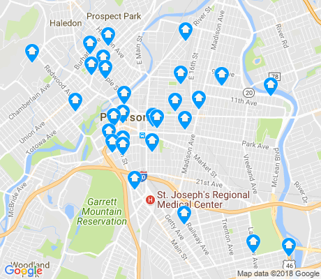 map of Paterson apartments for rent