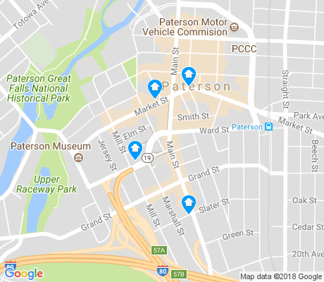 map of Old Great Falls Historic District apartments for rent