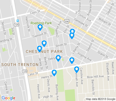map of Chestnut Park apartments for rent