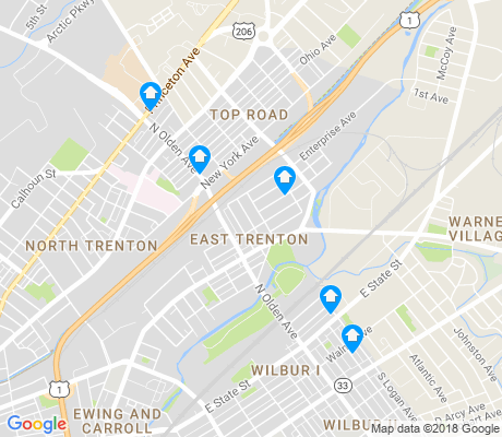 map of East Trenton apartments for rent