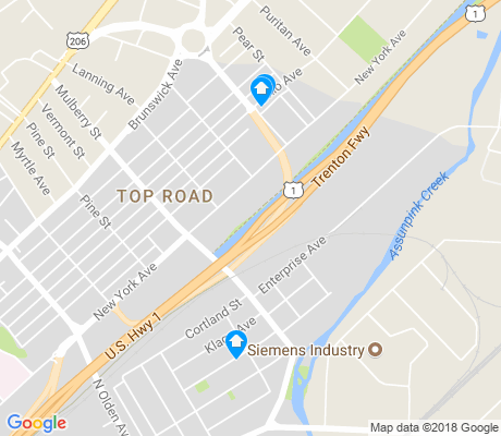 map of Top Road apartments for rent