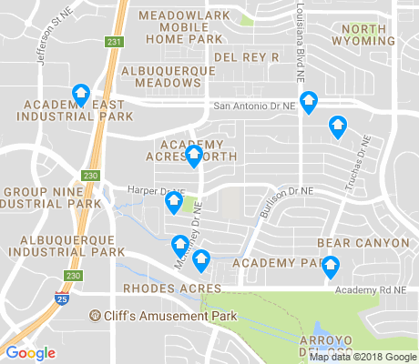map of Academy Acres North apartments for rent