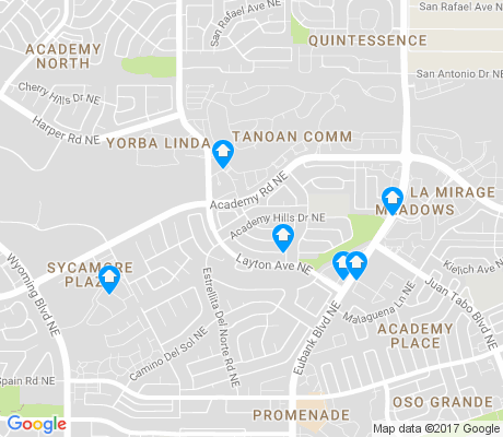 map of Academy Hills Park apartments for rent