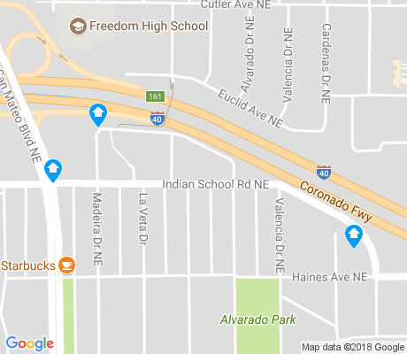 map of Alvarado Park apartments for rent