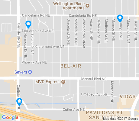 map of Bel-Air apartments for rent