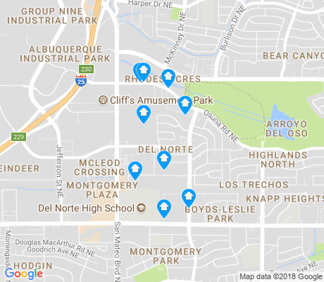 map of Del Norte apartments for rent
