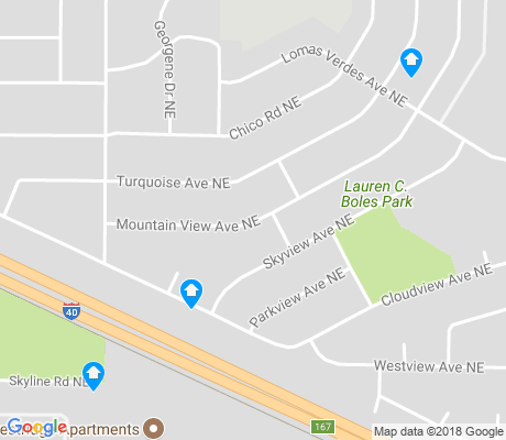 map of Foothill Estates apartments for rent