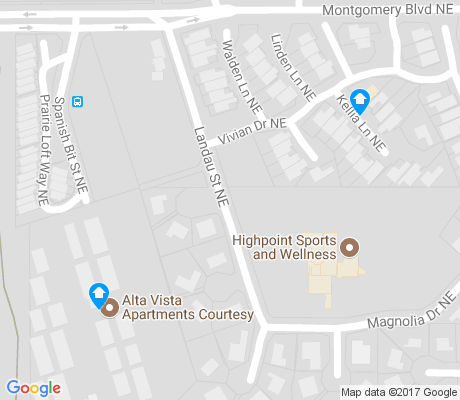 map of Glenwood Hills apartments for rent
