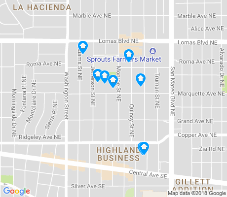 map of Highland Business apartments for rent