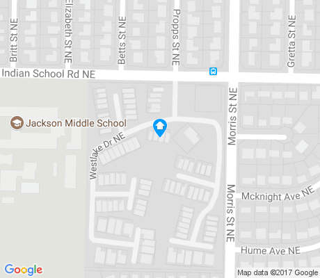 map of Jackson Area apartments for rent