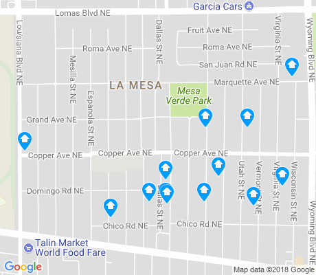 map of La Mesa apartments for rent