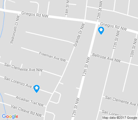 map of Los Griegos apartments for rent