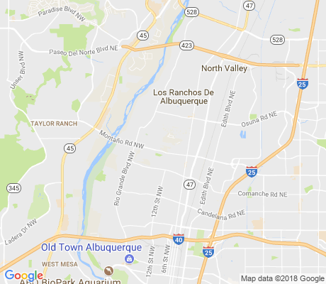map of Los Poblanos apartments for rent