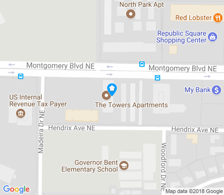 map of Montogmery Park apartments for rent