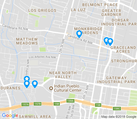 map of Near North Valley apartments for rent
