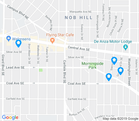 map of Nob Hill apartments for rent