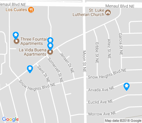map of North Easterns apartments for rent