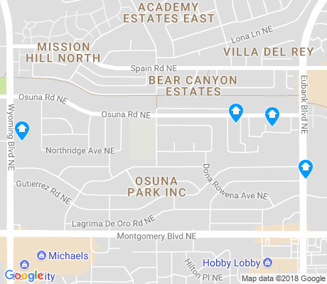 map of Osuna Park Inc apartments for rent