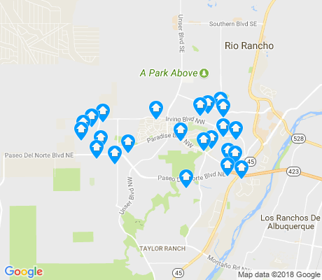 map of Paradise Hills Civic apartments for rent