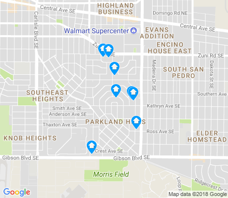 map of Parkland Hills apartments for rent