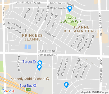 map of Princess Jeanne apartments for rent
