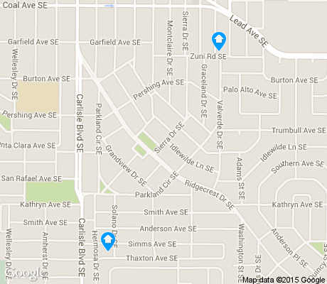 map of SE Heights apartments for rent