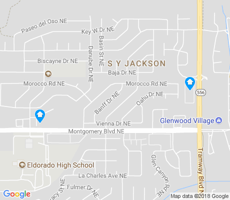 map of S Y Jackson apartments for rent