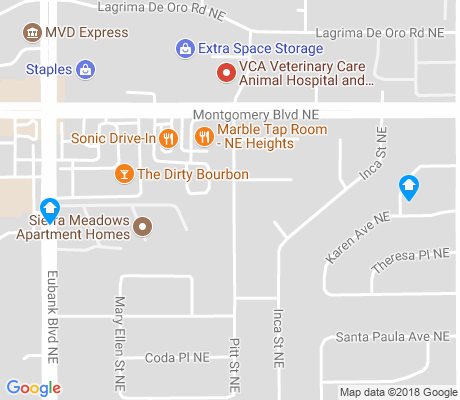 map of San Gabriel apartments for rent
