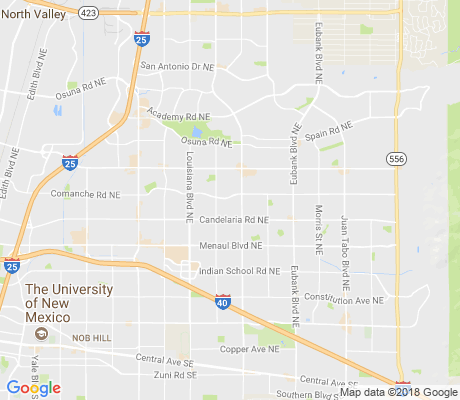 map of Sandia High School Area apartments for rent