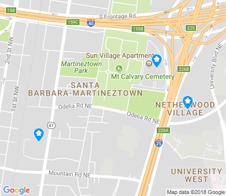 map of Santa Barbara-Martineztown apartments for rent