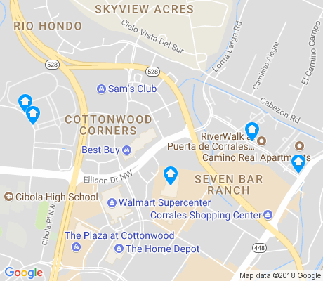 map of Seven Bar Ranch apartments for rent